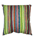 Summer Sol Square Outdoor Pillow-Striped Sky