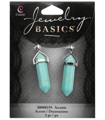 Cousin® Jewelry Basics 2 Pack Pencil with Silver Bail Cap-Turquoise