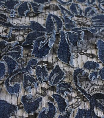 "Sportswear Denim Fabric 57""-Floral on Lace"