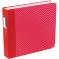 American Crafts Designer D-Ring Album Honey Edition Red And Pink