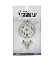 Tim Holtz® Assemblage Charms-Clock Key & Timepiece, , hi-res