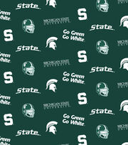 "Michigan State University Spartans Cotton Fabric 44""-All Over, , hi-res"