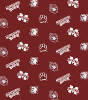 "Mississippi State University Bulldogs Cotton Fabric 44""-All Over, , hi-res"