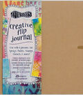 Dyan Reaveley\u0027s Dylusions Creative Flip Journal-Kraft 12\u0022X8.5\u0022