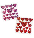 Hologram Heart Shaped Stickers - Red & Pink