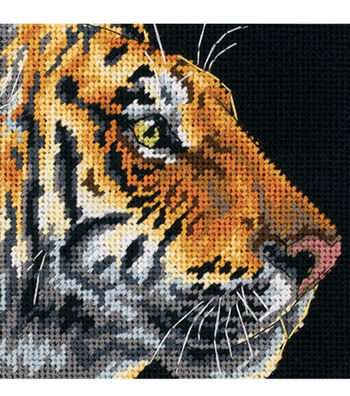 Dimensions Needlepoint Kit Tiger Profile