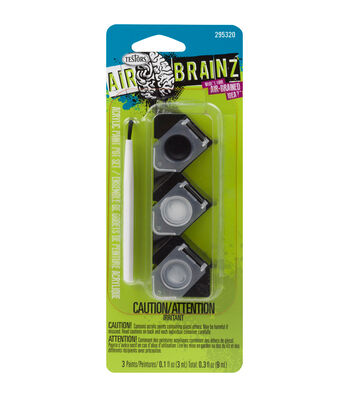 AirBrainz Acrylic Paint Pot Set-Black White Grey