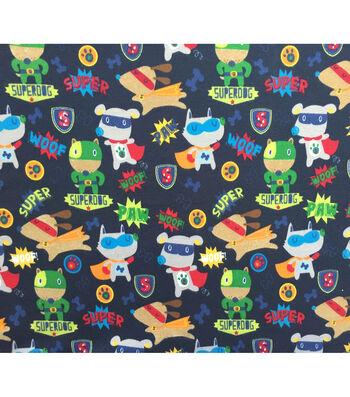 Doodles Juvenile Apparel Fabric-Superhero Pups Interlock