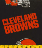 Cleveland Browns Fleece Fabric 58''-Logo, , hi-res