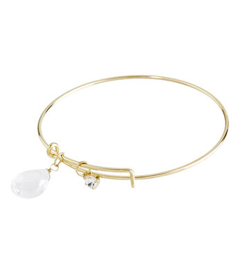 Finished Bracelet Crystal Quartz - Gold