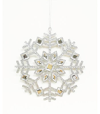 Maker's Holiday Christmas Holiday Charm Snowflake Ornament-Silver