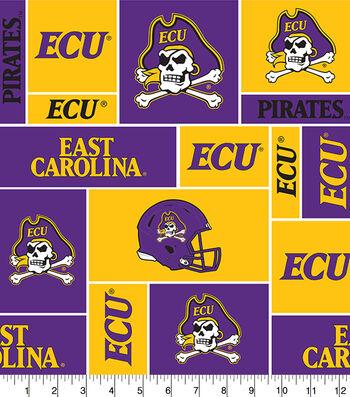 "East Carolina University Pirates Fleece Fabric 58""-Block"