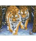 Needleart World Printed Cross Stitch Kit-Stalking Tigers