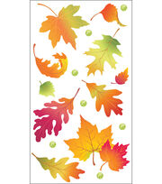 Vellum Stickers-Leaves, , hi-res
