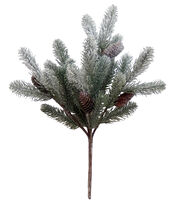 Blooming Holiday 21'' Pine & Pinecone Spray with Snow-Green & Natural, , hi-res