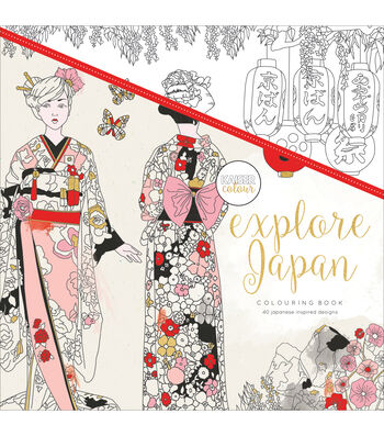 Kaisercraft KaiserColour Perfect Bound Coloring Book-Explore Japan