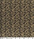 Buttercream™ Audrey Cotton Fabric-Ditsy Rose Black Metallic