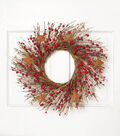 Blooming Holiday Berry & Star Grapevine Wreath