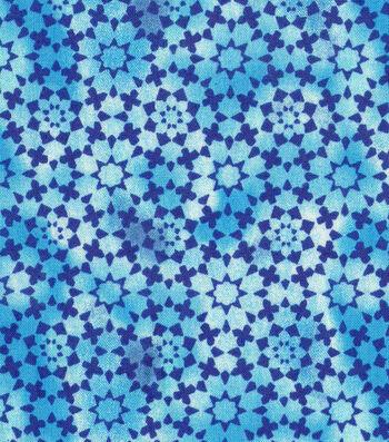 """Keepsake Calico™ Cotton Fabric 43""""-Blue Kalediscope Blender"""