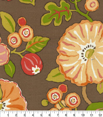 P/Kaufmann Outdoor Print Fabric 54''-Chocolate Hip Floral