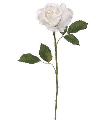 Bloom Room Pack of 12 22'' Rose Bud Stems-White
