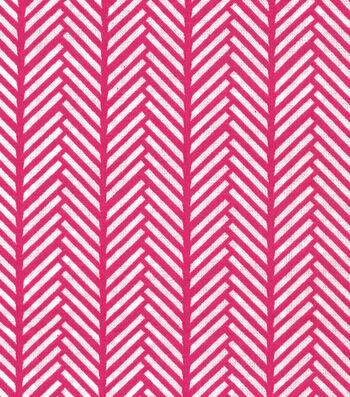 Quilter's Showcase™ Cotton Fabric 44''-Linear Arrows on Pink