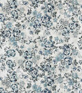 Vintage Cotton Fabric 43\u0022-Sketch Florals Blue