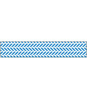 "American Crafts™ Glitter Ribbon 0.63""x3yds-Blue Chevron, , hi-res"