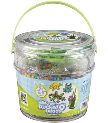 Perler Bucket O' Beads Fun Fusion Fuse Bead Kit-Rainforest