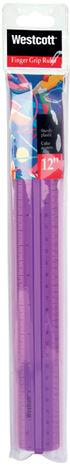Finger Grip Ruler 12\u0022-Assorted Colors
