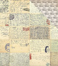 Transatlantic Travel Double-Sided Cardstock 12\u0022X12\u0022-Vintage Letters