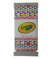 Crayola® Fabric 1yd Cut-Triangle Multi White, , hi-res