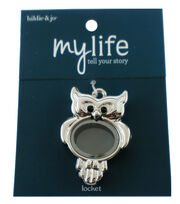 hildie & jo™ My Life Owl Silver Locket-Clear, , hi-res