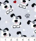 Snuggle Flannel Fabric 42\u0022-Pups And Hearts