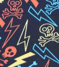 Blizzard Fleece Fabric 59\u0022-Chalk Skulls