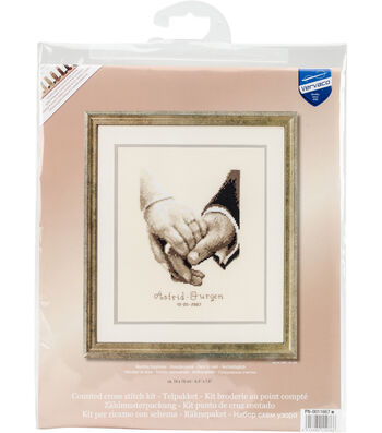 """Wedding Happiness On Aida Counted Cross Stitch Kit-6.4""""X7.6"""" 18 Count"""