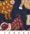 Anti-Pill Fleece Fabric 59\u0022-Good Dog Navy