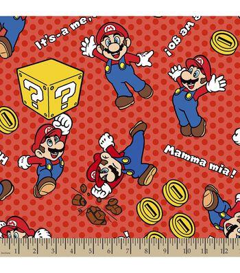 Nintendo Mario Print Fabric-Mamma Mia
