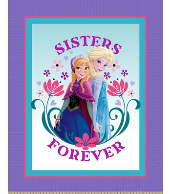 "Disney Frozen Sisters Forever 48"" No Sew Fleece Throw"