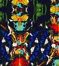 Silky Prints Stretch Sanded Chiffon Fabric-Butterfly Multi