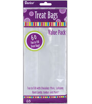 "Treat Bags 4""X9"" 60/Pkg-Clear, , hi-res"
