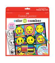 """Color By Number Kit 9""""X9""""-Emoji, , hi-res"""