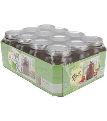 Ball Regular Mouth Canning Jar 12/Pkg-Pint
