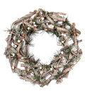 Blooming Holiday 12\u0027\u0027 Twig Pine Wreath