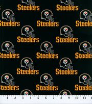 "Pittsburgh Steelers Cotton Fabric 58""-Black, , hi-res"