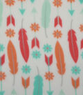 Anti-Pill Fleece Fabric 59\u0022-Feathers And Arrows