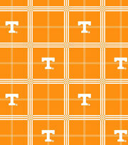 "University of Tennessee Volunteers Flannel Fabric 42""-Plaid, , hi-res"