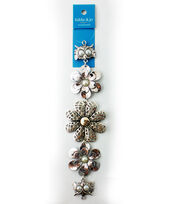 hildie & jo™ 7'' Flowers & Owls Strand with Pearl-Silver, , hi-res