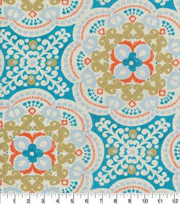 Waverly Outdoor Print Fabric 54''-Aqua Astroid