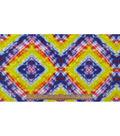Anti-Pill Fleece Fabric 59\u0022-Neon Geo Tiedye